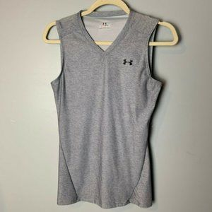 Under Armour Tank Top Size Large Heat Gear Gray